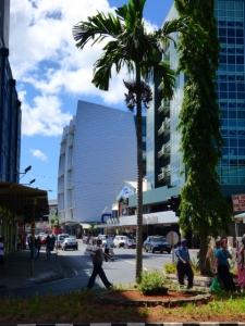 New buildings gradually rising.
